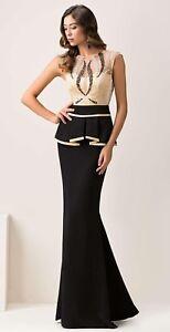 promo code 252ab 9998c Dettagli su Abito lungo Maestri nero e beige gonna nera taglia 54 Elegant  dress Kleid Robe