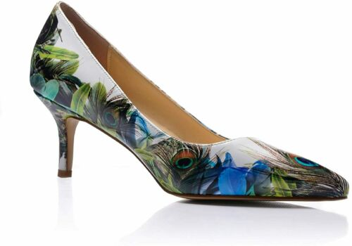 Details about  /Reindee Lusion Women/'s Low Kitten Comfortable Stiletto Heels Musical Note Printe