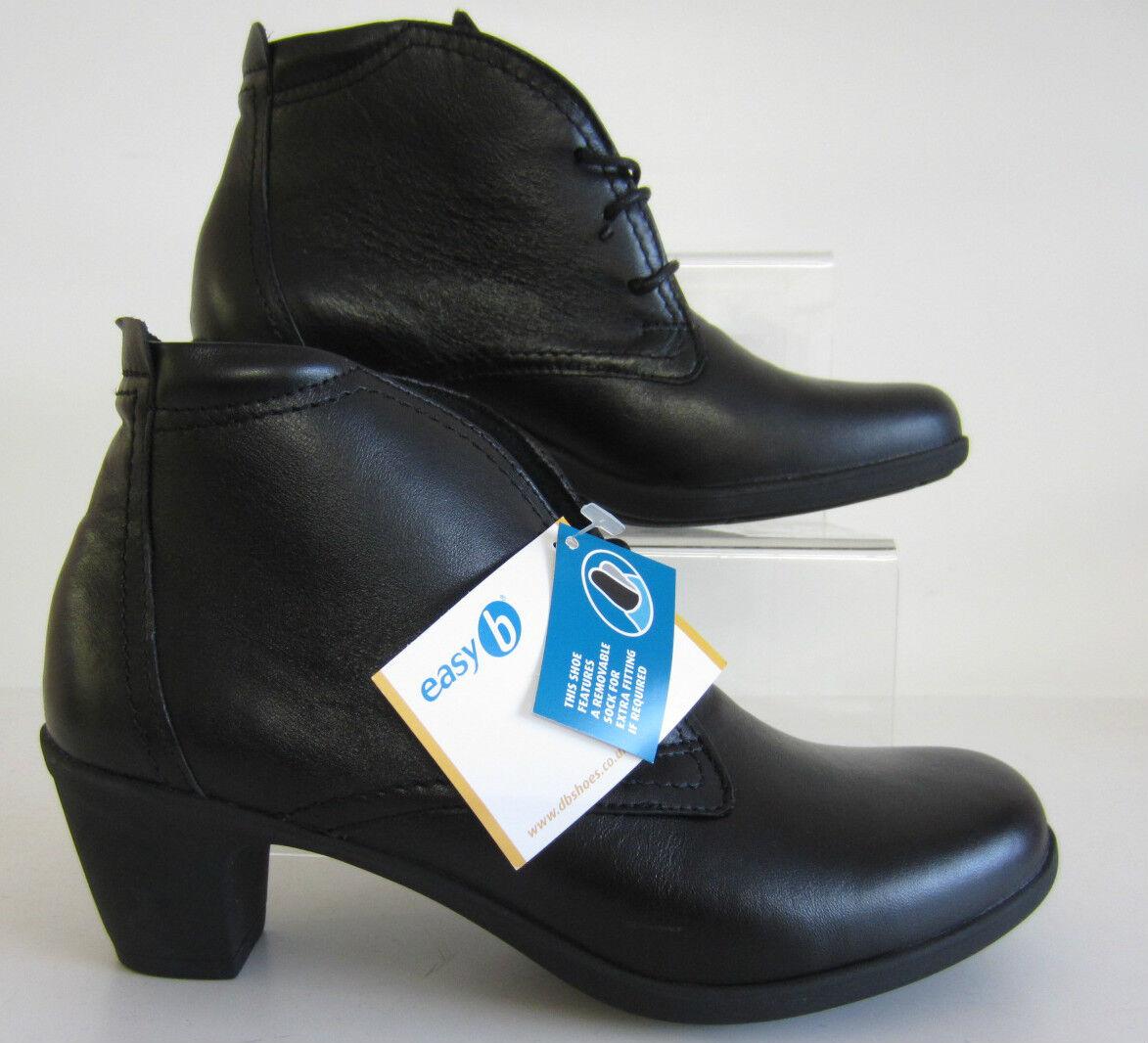 Easy-b JO Botín para women 78364a Cuero black EE Ajuste GB 4 y 5 (R6B)