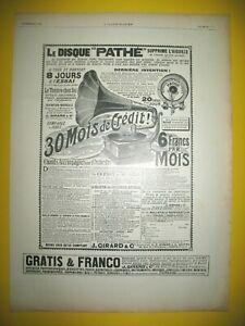 Publicite-de-Prensa-Pathe-Disco-de-Zafiro-para-Phono-Ultima-Invention-1908