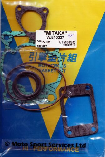 Top End Gasket Set KTM 50 KTM50 SX L//C 2009 to 2017 Mitaka 337