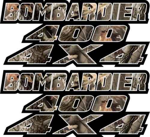 Bombardier 400 4x4 Camo Gas Tank Graphics Decal Sticker Atv car Quad plastic