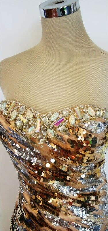 NWT Party Time Formals 6025 gold gold gold  478 Party Prom Gown 2 22e6c7