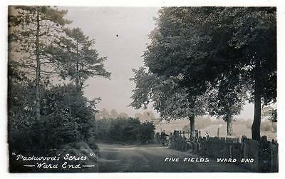 Five Fields Ward End Birmingham RP old postcard used 1908 Aston Manor Packwood's