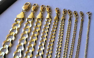AUTHENTIC-10K-SOLID-GOLD-MEN-WOMEN-CUBAN-LINK-CHAIN-SIZE16-36-034-FREE-SHIPPING