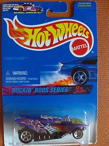 ROCKIN-039-RODS-SERIES-3-4-TURBO-FLAME-1-64-HOT-WHEELS-MATTEL