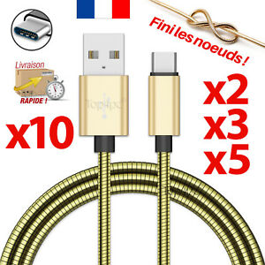 CABLE-USB-TYPE-C-CHARGEUR-SYNCRO-POUR-SAMSUNG-GALAXY-S8-S9-PLUS-NOTE-8-OR-METAL