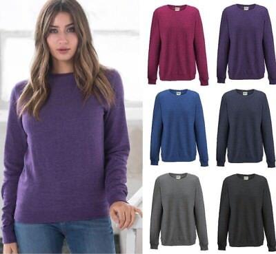 VertrauenswüRdig Awdis Ladies Heather Soft Sweatshirt Lightweight Girlie Fit In Colour Choices Eine GroßE Auswahl An Waren