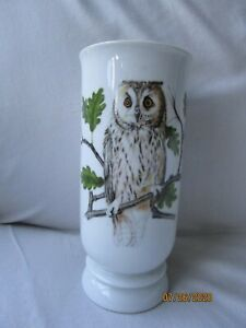 VINTAGE-Long-Eared-Owl-8-034-Porcelain-House-of-GOEBEL-Vase-GERMANY