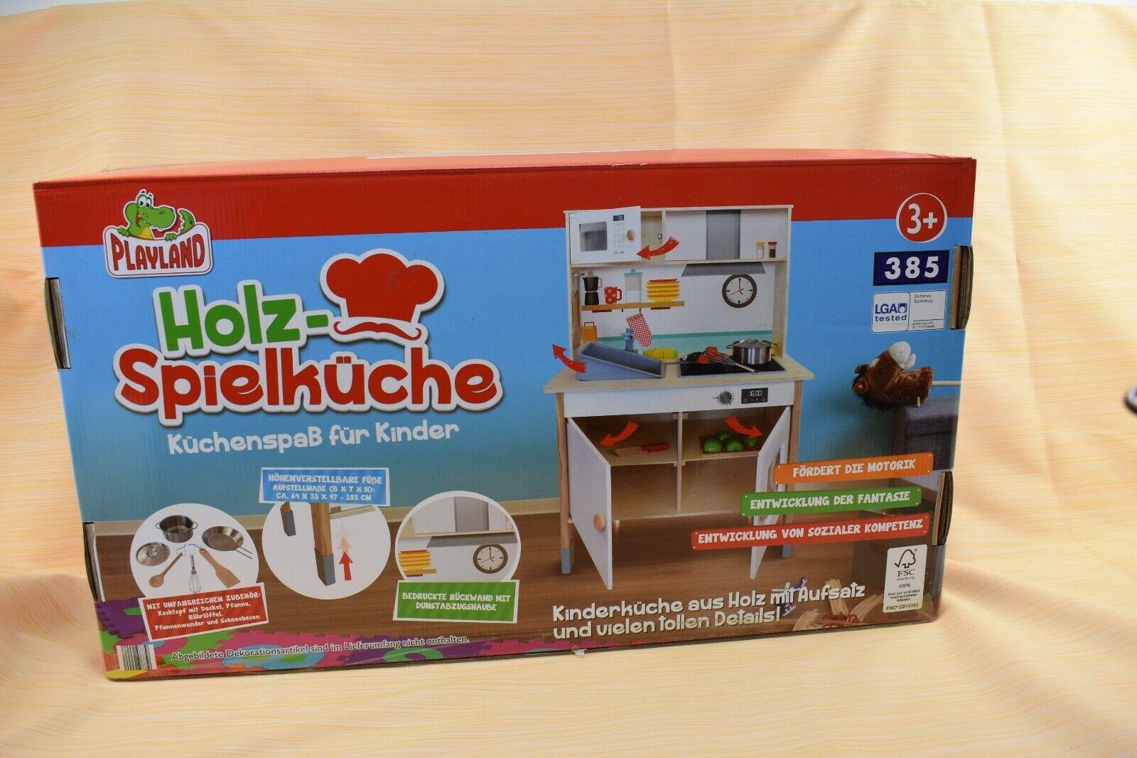 Playland Holz Spielküche, Küchenspaß für Kinder mit umfangreichem Zubehör, Neu