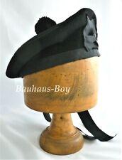 KILT BALMORAL HAT BLACK WITH BLACK POM POM WOOL ALL SIZES FOR SCOTTISH KILTWEAR