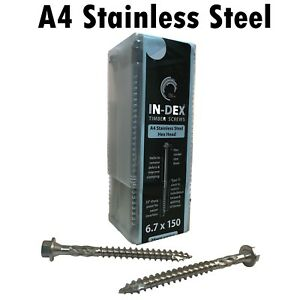 TIMCO IN-DEX STAINLESS STEEL A4 Landscape Sleeper Wood