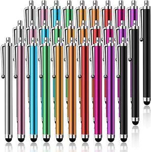 Pantalla táctil capacitiva lápiz 30 Pack Metal Stylus para Tablet PC Teléfono Celular iPad