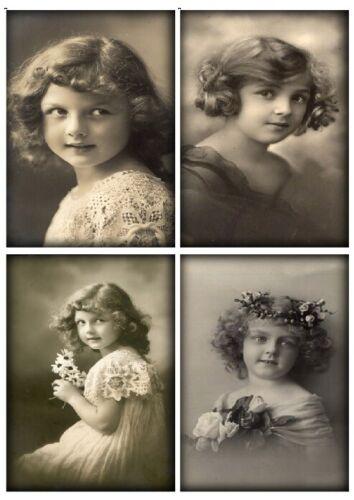 Decoupage-Bastelpapier-Softpapier-Vintage-Shabby-Nostalgie-Mädchen-Girls-12543