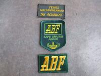 ABF Safe Driving Award Arkansas trucking truck trucker driver driving Patch LOT