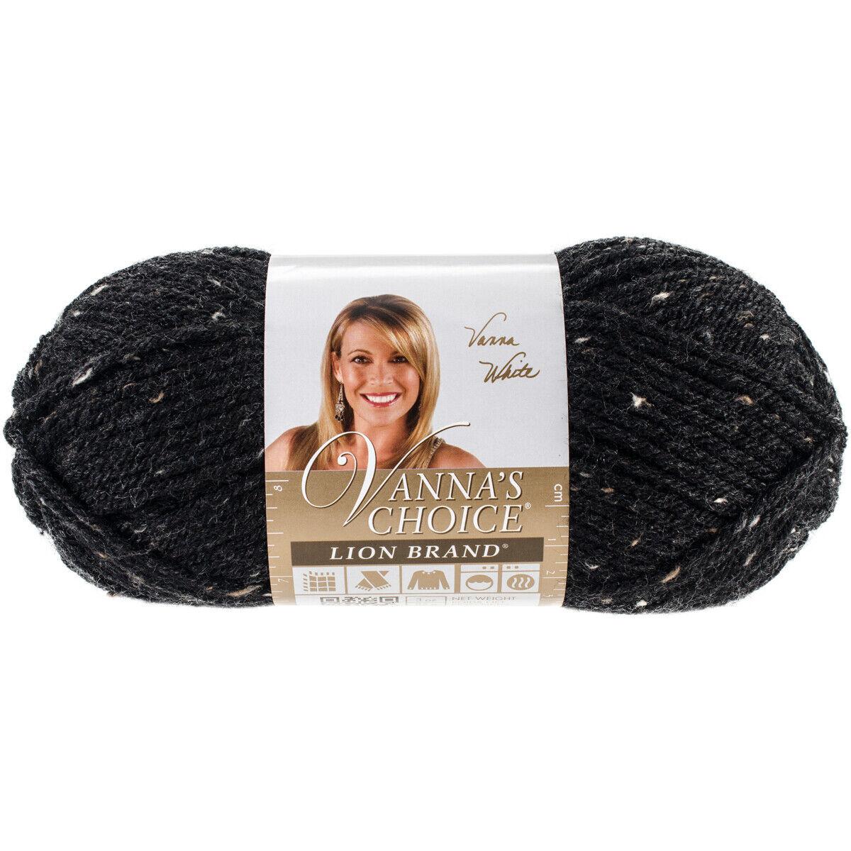 Lion Brand Vanna/'s Choice Obsidian Tweed Yarn Medium-4 145 Yd