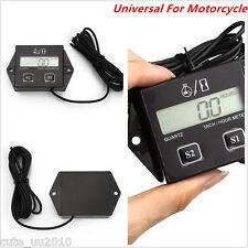 Waterproof Tachometer Hour meter motorcycle 2&4 Stroke gas oline Bike Car 12V