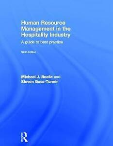 Human Resource Management in the Hospitality Industry Boella & Goss-Turner 9thEd