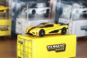Tarmac Works 1/64 Koenigsegg Agera RS Jaune No Hot Wheels, No Norev