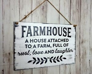 Farmhouse-A-House-Attached-To-A-Farm-Full-of-Rust-Love-And-Laughter-Sign