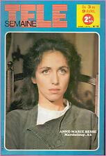 ▬►Télé Semaine N°19 (1982) A.M BESSE_GUY BEART_ANNA KARINA_BJORN BORG