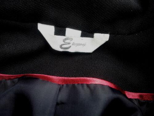 Vintage Jakke uld 40 Blend Eleganze 12 Eu Sort Uk Størrelse rxrqvUF
