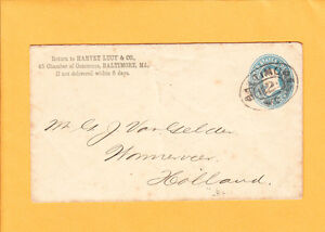 Harvey-Lucy-amp-Co-BALTIMORE-Racetrack-2-Cancel-To-Holland-1892-PSE-Z64