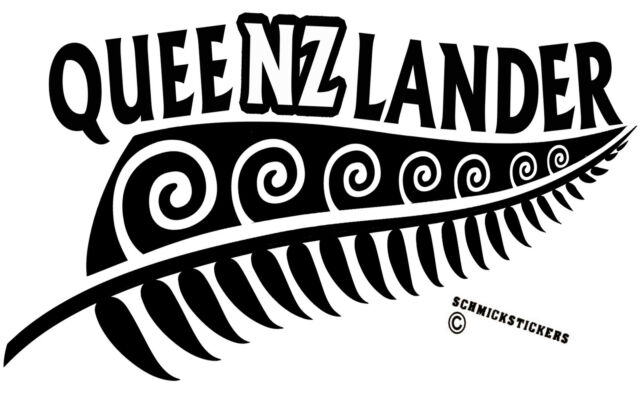 AOTEAROA NEW ZEALAND KIWI FERN QUEENSLAND QUEENZLANDER STICKER *