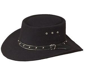 USA Cowboy Western Stetson Hat - Black Felt Gambler Style for Men or ... b28a3ab730e
