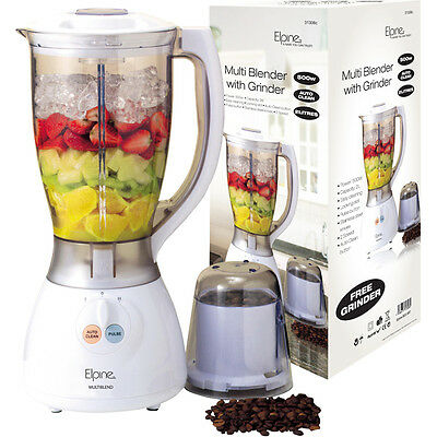 500W 2L ELECTRIC MULTI FOOD BLENDER WHITE GRINDER SMOOTHIE PROCESSOR LIQUIDISER