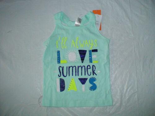 NWT GYMBOREE BLUE SAFARI I/'LL ALWAYS LOVE SUMMER DAYS TANK TOP SHIRT SUMMER