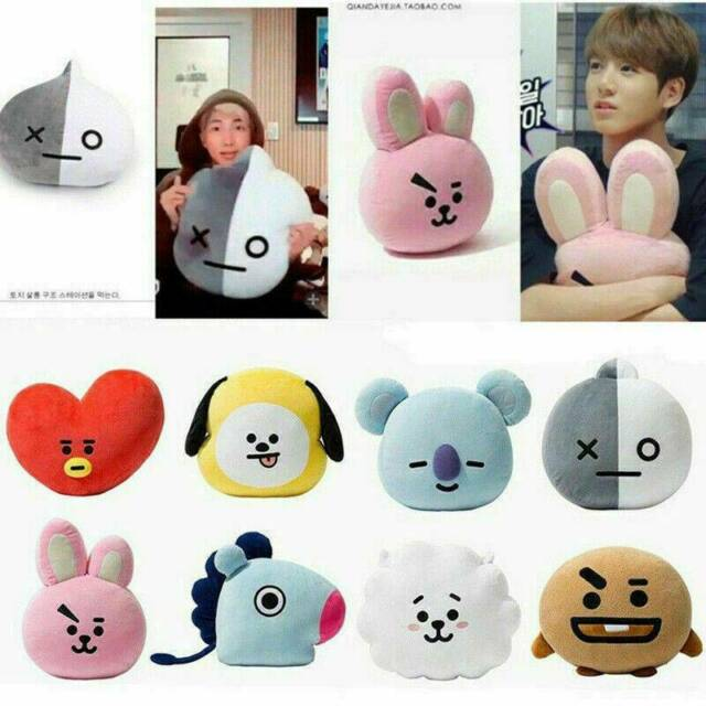 Hot KPOP BTS Plush Toy BT21 CHIMMY COOKY TATA Standing Doll 12Inch Toy