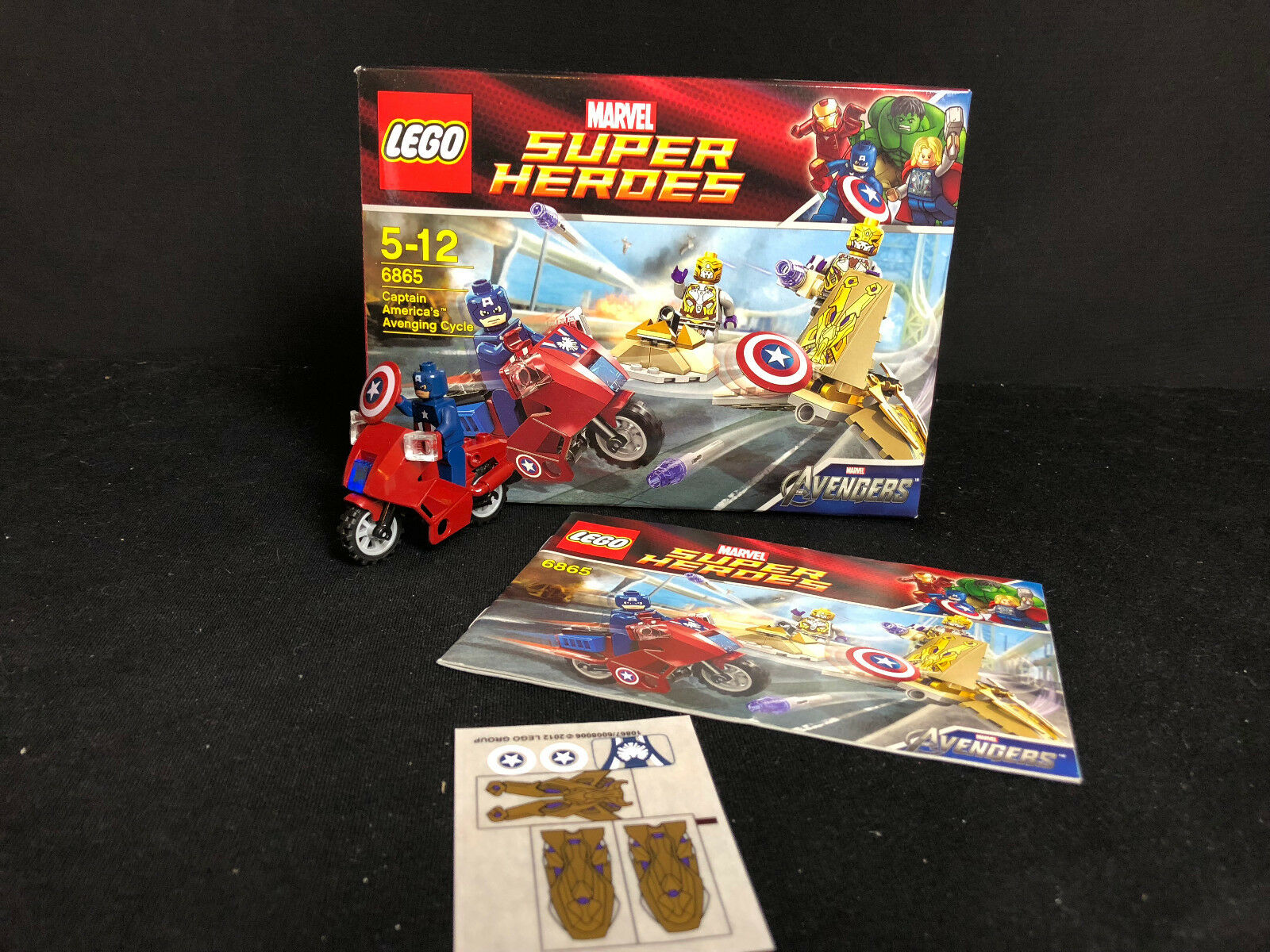 LEGO ® 6865 Avenging CYCLE SUPER HEROES capitaine america  box  instruction Ba