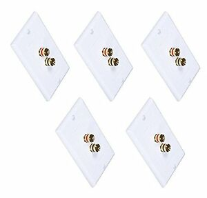 Pack-of-5-Premium-2-Connector-Banana-Wall-Plate-Plug-Binding-Post-for-Speakers