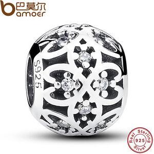 Fine-Retro-Authentic-S925-Sterling-Silver-Charm-Round-Bead-Fit-European-Bracelet