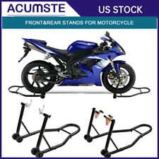 Venom Motorcycle Front+Rear Paddle Wheel Lift Stand For Honda CB 125 350 400 450 650 750 900 Super Sport