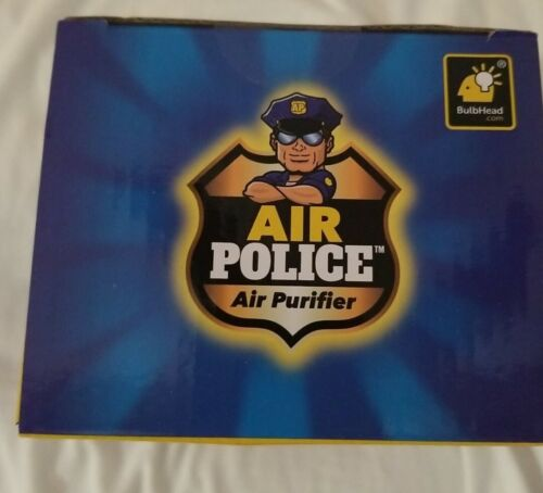BulbHead Air Police Air Purifier Portable Plug-In Ionic Technology With Filter