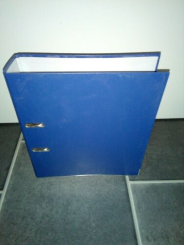 20 St Leitz Qualitäts-Ordner PP 180° A4 80mm blau wie NEU
