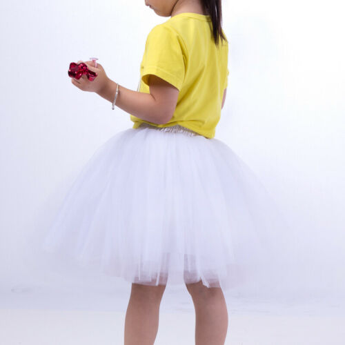 UK NEW Tulle Skirt Women Vintage Dress 50s Rockabilly Tutu Petticoat Ball Gown