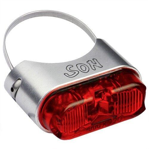 Figlio LED Luce Posteriore per Reggisella con Stvzo Autorizzazione zilver rot