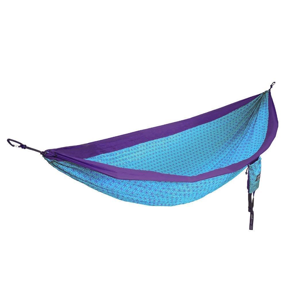 Eno Fleur de vie Doublenest Camp Hamac poids léger Parachute Nylon bleu