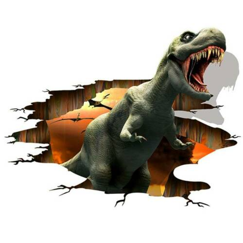 3D Dinosaur Wall Sticker Kids Baby boys Bedroom Wall Decal Art Mural Decor Fjie