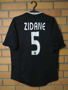58c48851b Real Madrid Away football shirt 2004-2005  5 Zidane size S soccer ...