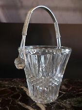seau à glace verre métal argenté art-déco vintage CERAMIC by PN