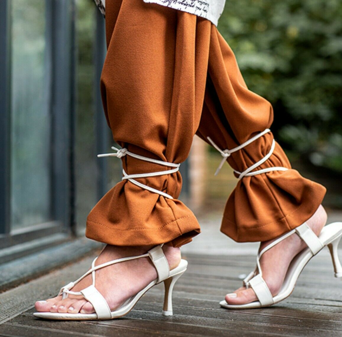 White mid heeled strappy sandals, size 5, eu 38 new