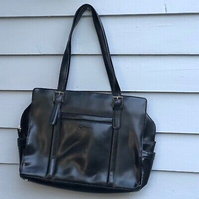 Franklin Covey Black Laptop Bag Business Organizer Travel Tote Purse 720965 | eBay