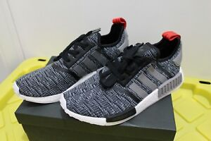 Details about Adidas NMD R1 Glitch Core Black Grey Red Mens Size SZ 10.5 BB2884 DS Deadstock