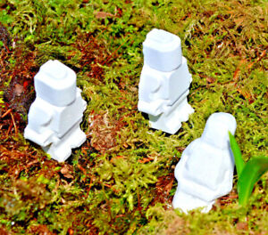 40 Minifig Chalk//Clay Shooting ReactiveTargets Exploding Dust Shattering