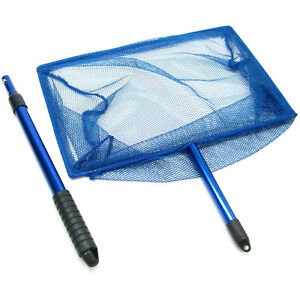 Koi Adjustable fish Net 35.5x 23cm Cleaning & Maintenance Fish & Aquariums Handle Aluminum Fishing Pond Aquarium Tank Preventing Hairs From Graying And Helpful To Retain Complexion