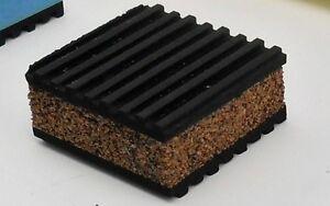 """12 Pack Anti Vibration Pads rubber/cork 2"""" x 2"""" x 7/8"""" HVAC COMPRESSOR"""